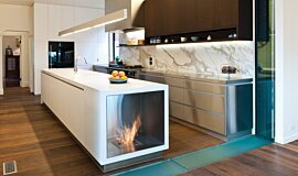 Celebrity Chef's Kitchen Single Sided Fireboxes Fireplace Insert Idea