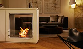Merkmal Showroom Indoor Fireplaces Built-In Fire Idea