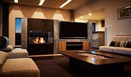 Nozomi Views Indoor Fireplaces Built-In Fire Idea