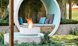 AD Design Outdoor Fireplaces Built-In Fire Idea