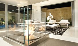 David Reid Display Indoor Fireplaces Built-In Fire Idea