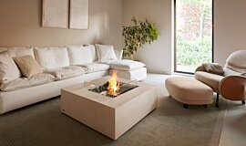 Private Residence Indoor Fireplaces Fire Table Idea