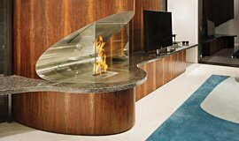SAAJ Design Indoor Fireplaces Ethanol Burner Idea