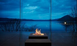 The Lake View Toya Nonokaze Resort Builder Fireplaces Ethanol Burner Idea