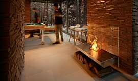 Commercial Space Indoor Fireplaces Freestanding Fire Idea