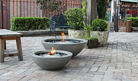 The Grounds Fluid Concrete Technology Fire Pit Idea