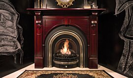 TFC Showroom Indoor Fireplaces Built-In Fire Idea