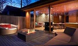 Private Residence MAD Services Freestanding Fire Idea