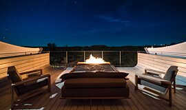 Longitude 131º Outdoor Fireplaces Built-In Fire Idea