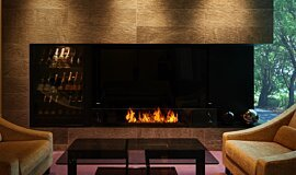 Salon de Louange Indoor Fireplaces Ethanol Burner Idea