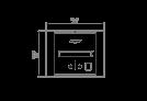 BK2UL Ethanol Burner - Technical Drawing / Top by EcoSmart Fire