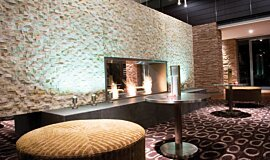 Crowne Plaza Hotel Linear Fires Fireplace Insert Idea