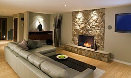Lounge Room Linear Fires Flex Sery Idea