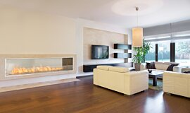 Living Area Linear Fires Fireplace Insert Idea