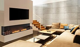 Living Area Linear Fires Flex Sery Idea