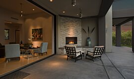 Outdoor Space Linear Fires Flex Sery Idea