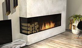 Living Room Linear Fires Flex Sery Idea