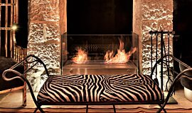 Villa Brown Jerusalem Hotel Linear Fires Designer Fireplace Idea