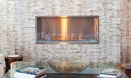 W Residence Linear Fires Fireplace Insert Idea