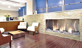 Farber Center Linear Fires Fireplace Insert Idea