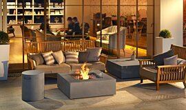 Commercial Space Hospitality Fireplaces Fire Table Idea