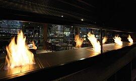 Hurricane's Grill & Bar Builder Fireplaces Ethanol Burner Idea