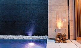 New American Home Landscape Fireplaces Designer Fireplace Idea