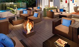 Kimber Modern Hotel Landscape Fireplaces Fire Pit Idea
