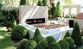 Melbourne International Garden and Flower Show Linear Fires Fireplace Insert Idea
