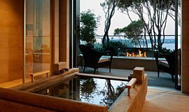 Hiramatsu Hotel & Resorts Linear Fires Ethanol Burner Idea