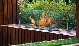 Melbourne International Flower and Garden Show Linear Fires Ethanol Burner Idea