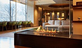 Midorinokaze Resort Kitayuzawa Commercial Fireplaces Ethanol Burner Idea