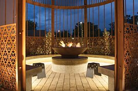 XL500 Outdoor Fireplace - In-Situ Image by EcoSmart Fire
