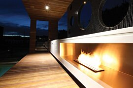 XL900 Outdoor Fireplace - In-Situ Image by EcoSmart Fire