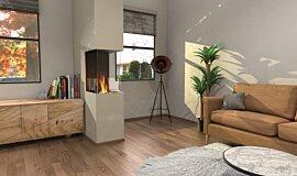 Living Area Residential Fireplaces Flex Fireplace Idea