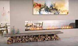 Lounge Area Linear Fires Flex Fireplace Idea