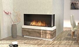 Dining Room Linear Fires Flex Fireplace Idea