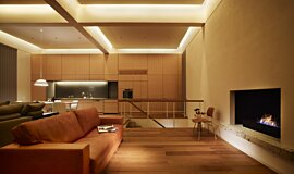 Personal Villa Linear Fires Fireplace Insert Idea