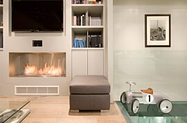 Firebox 1200SS Built-In Fireplace - In-Situ Image by EcoSmart Fire