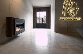 Firebox 1100CV Wall Mounted Fireplace - In-Situ Image by EcoSmart Fire