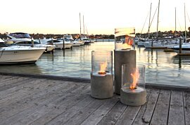 Lighthouse 300 Outdoor Fireplace - In-Situ Image by EcoSmart Fire