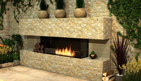 Outdoor Setting - Flex 50BY Flex Fireplace by EcoSmart Fire