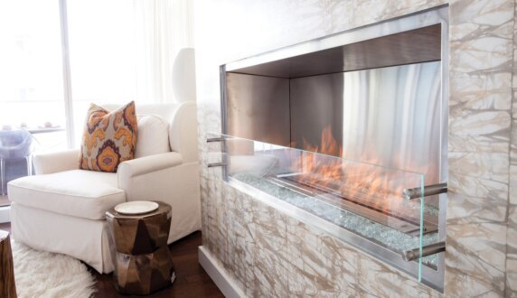 W Residence - Firebox 1200SS Fireplace Insert by EcoSmart Fire