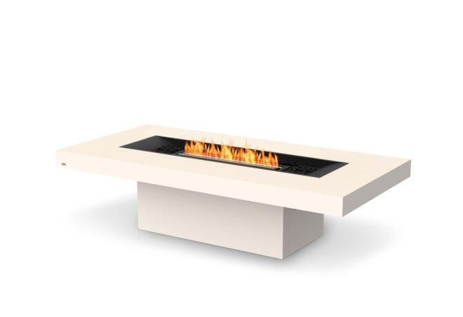 Gin 90 (Chat) Fire Table - Ethanol - Black / Bone by EcoSmart Fire