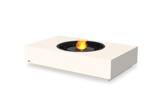 Martini 50 Fire Table - Ethanol - Black / Bone by EcoSmart Fire