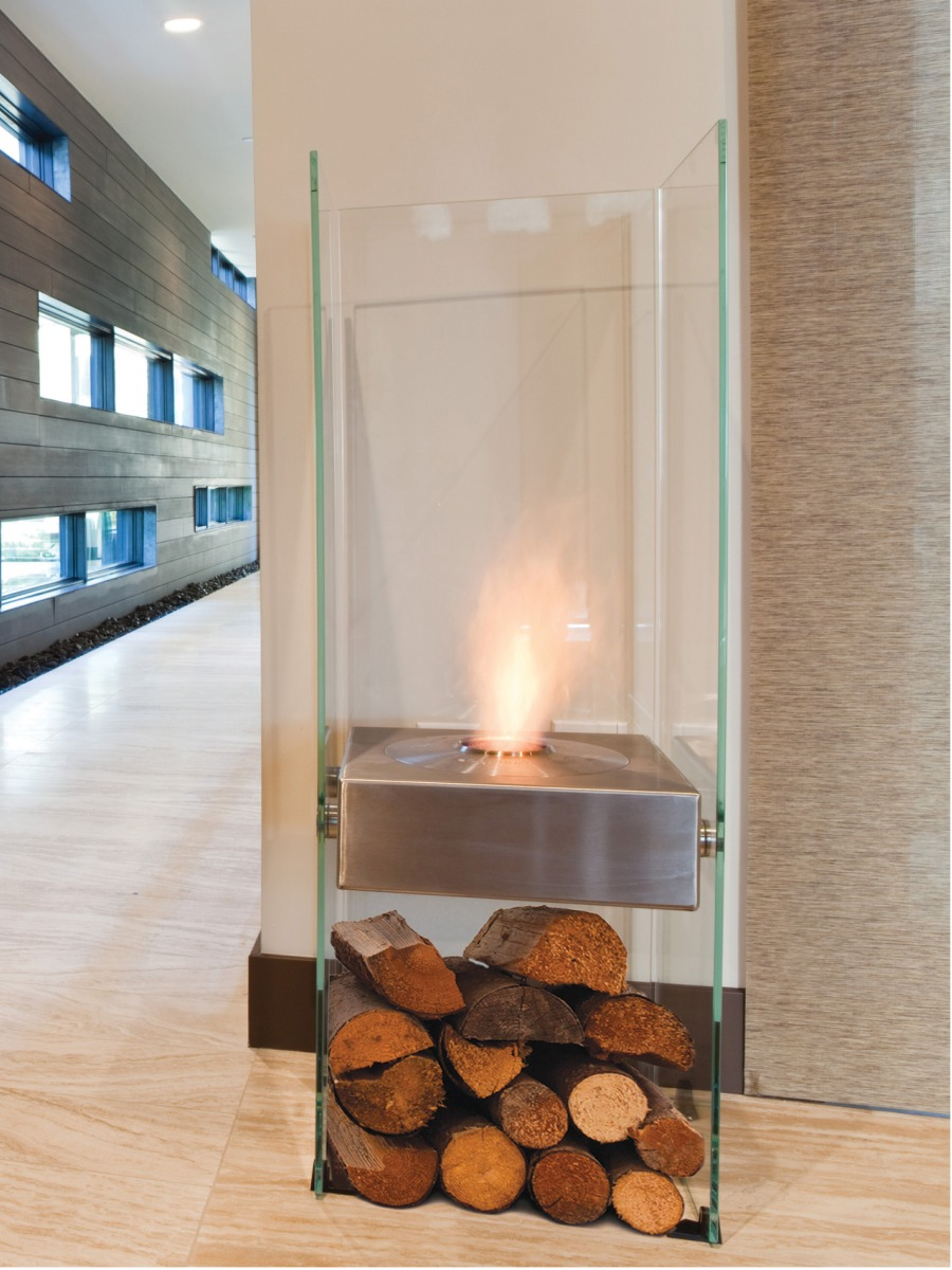 EcoSmart Fire Ghost glass fireplace